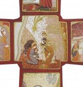 Immagine di 'Croce stampa Nativita' di Padre Rupnik su legno cm 22x33 con scatola e spiegazione'