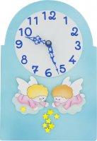 Pala bassorilievo orologio con angeli - 30 x 20 cm