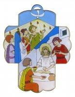 Bomboniera comunione/cresima bambino bambina: Croce Sacramenti in plexiglas - 13 x 10 cm