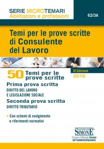Copertina di 'Temi per le prove scritte di Consulente del Lavoro - 50 Temi'