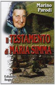 Copertina di 'Il testamento di Maria Simma'