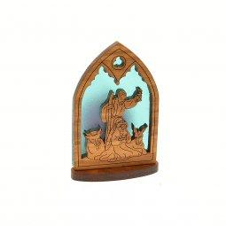 Copertina di 'Nativita' gotica con lumino (sfondo blu)'