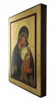 Immagine di 'Icona Madre di Dio di Jaroslav, produzione greca su legno - 33 x 25 cm'