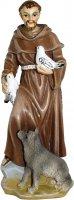 Statua San Francesco da 12 cm in confezione regalo con immaginetta di  su LibreriadelSanto.it