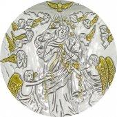 Immagine di 'Quadro Maria che sciogle i nodi in Argento 925 - Bassorilievo - 6,5 x 5 cm'