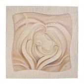 """Quadro in resina effetto tela """"Sacra Famiglia"""" - dimensioni 49x49 cm"""