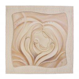 """Copertina di 'Quadro in resina effetto tela """"Sacra Famiglia"""" - dimensioni 49x49 cm'"""