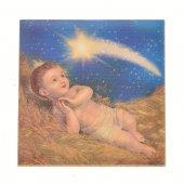"""Piastrellina magnetica """"Gesù Bambino"""" - dimensioni 4,5x4,5 cm"""