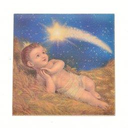 """Copertina di 'Piastrellina magnetica """"Gesù Bambino"""" - dimensioni 4,5x4,5 cm'"""