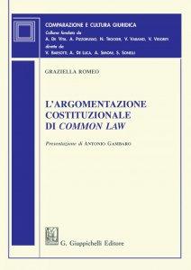 Copertina di 'L'argomentazione costituzionale di common law'