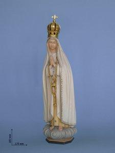 """Copertina di 'Statua in legno di tiglio  """"Madonna di Fatima"""" - altezza 50 cm'"""
