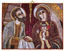 Copertina di 'Quadro Presentazione al tempio Padre Rupnik stampa 10,8x14,6 cm  (Guadalajara)'