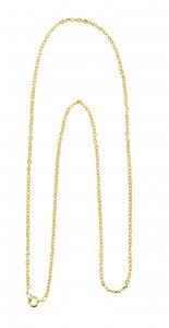 Copertina di 'Catena forzatina in metallo dorato cm 60'