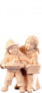 Copertina di 'Coppia di bambini R.K. - Demetz - Deur - Statua in legno dipinta a mano. Altezza pari a 15 cm.'