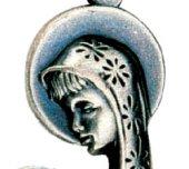 Immagine di 'Medaglia Madonna con il Bambino - 4 cm'