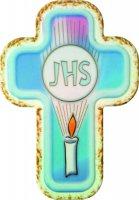 Croce laccata JHS da appendere