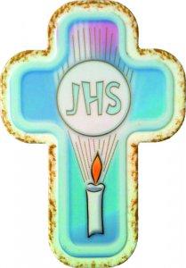Copertina di 'Croce laccata JHS da appendere'