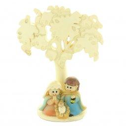 Copertina di 'Presepe con Albero della Vita in resina colorata - altezza 12 cm'