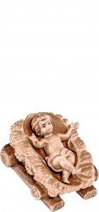 Copertina di 'Gesù bambino con culla H.K. - Demetz - Deur - Statua in legno dipinta a mano. Altezza pari a 11 cm.'