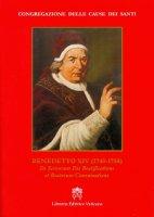 Benedetto XIV (1740-1758) - Congregazione per le Cause dei Santi