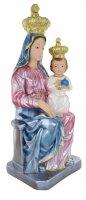Immagine di 'Statua Madonna Novi Velia in gesso madreperlato dipinta a mano - 40 cm'