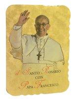 Rosario profumato con immagine di Papa Francesco