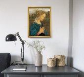 """Immagine di 'Quadro """"Lippina"""" con lamina oro e cornice dorata - dimensioni 44x34 cm'"""