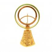 Ostensorio dorato con base piramidale a quattro facce - altezza 16 cm