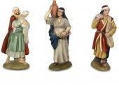 Gruppo tre pastori per presepe Linea Martino Landi - presepe da 10 cm