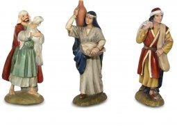 Copertina di 'Gruppo tre pastori per presepe Linea Martino Landi - presepe da 10 cm'