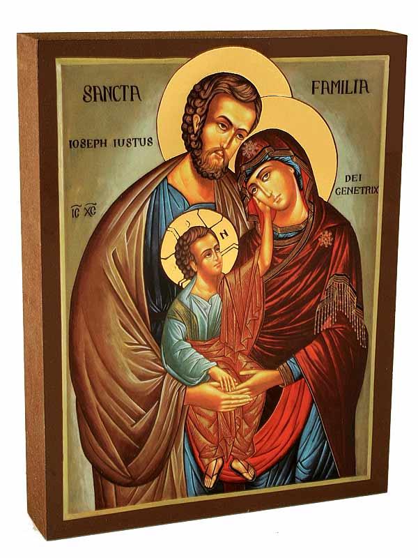 Icona Sacra Famiglia 15 X 11 Cm