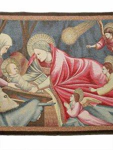 """Copertina di 'Arazzo sacro """"Natività"""" - dimensioni 64x92 cm'"""
