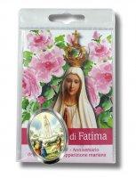 Calamita nichelata resinata di Fatima in blister con preghiera
