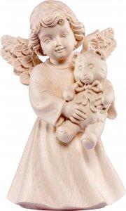 Copertina di 'Statuina dell'angioletto con orsacchiotto, linea da 10 cm, in legno naturale, collezione Angeli Sissi - Demetz Deur'