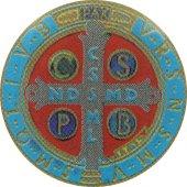 Immagine di 'Adesivo resinato per rosario fai da te Croce di San Benedetto - misura 2'