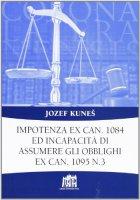 Impotenza ex can. 1084 ed incapacità di assumere gli obblighi ex can. 1095 n. 3 - Kunes Jozef