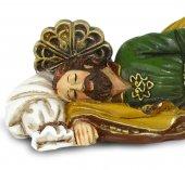 Immagine di 'Statua San Giuseppe dormiente per presepe - 100 cm'