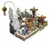 Immagine di 'Villaggio natalizio gigante con luna park, movimento, luci, musica (85 x 50 x 60 cm)'