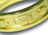 Immagine di 'Fedina rosario argento con bagno oro giallo con crocette mm 21'