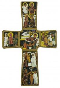 Copertina di 'Croce Natività stampa su legno di spessore alto - 14 x 9 cm'
