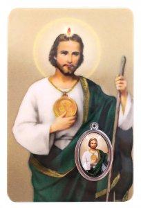 Copertina di 'Card San Giuda Taddeo in PVC - 5,5 x 8,5 cm - italiano'