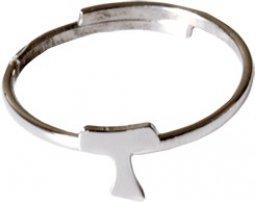 Copertina di 'Anello regolabile in argento 925 con tau'