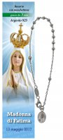Bracciale decina Madonna di Fatima - diam. grani mm 3