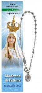 Copertina di 'Bracciale decina Madonna di Fatima - diam. grani mm 3'