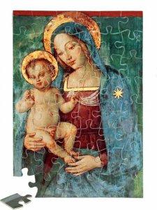"""Copertina di 'Puzzle """"Madonna del Pinturicchio"""" (48 pezzi)'"""