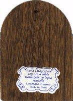 Immagine di 'Icona arcata per Comunione e Cresima in legno massello e lamina oro (cm 12 x 8,5 x 1,8)'