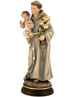 """Immagine di 'Statua in legno colorato """"Sant'Antonio di Padova"""" - altezza 30 cm'"""