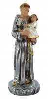 Statua Sant'Antonio in gesso madreperlato dipinta a mano - 15 cm