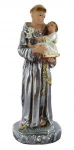 Copertina di 'Statua Sant'Antonio in gesso madreperlato dipinta a mano - 15 cm'