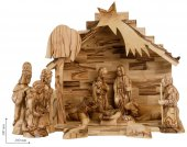 Copertina di 'Presepe a capanna dettagliato con  Magi e pastore'